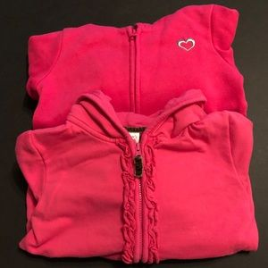 Girls pink hoodies 3T carters jumping beans